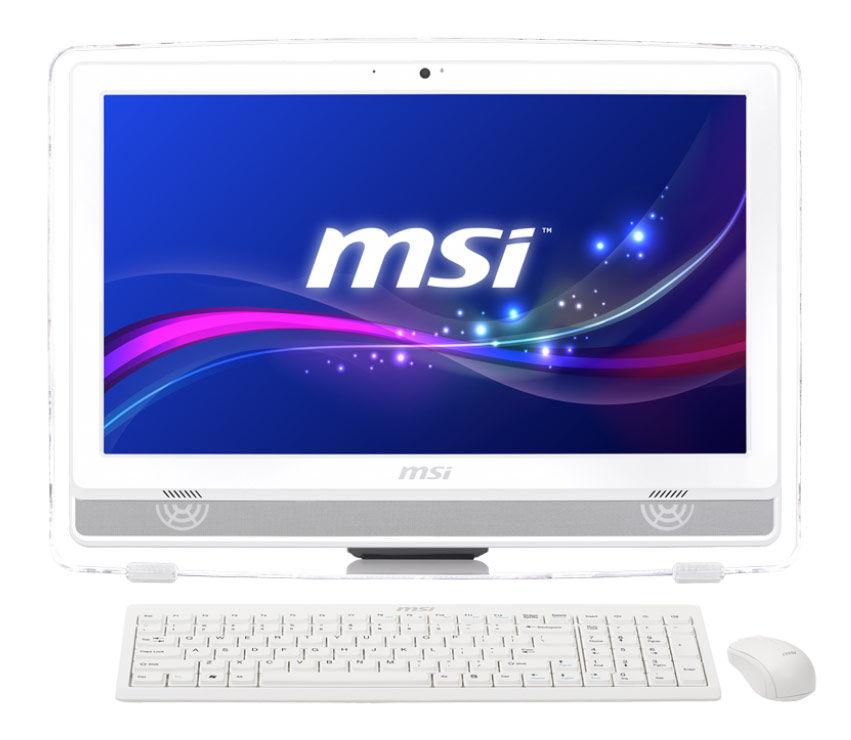 Моноблок MSI AE220-045RU, AMD E2 3800, 4Гб, 500Гб, AMD Radeon HD 8280, DVD-RW, Free DOS, белый [9s6-ac1512-045]