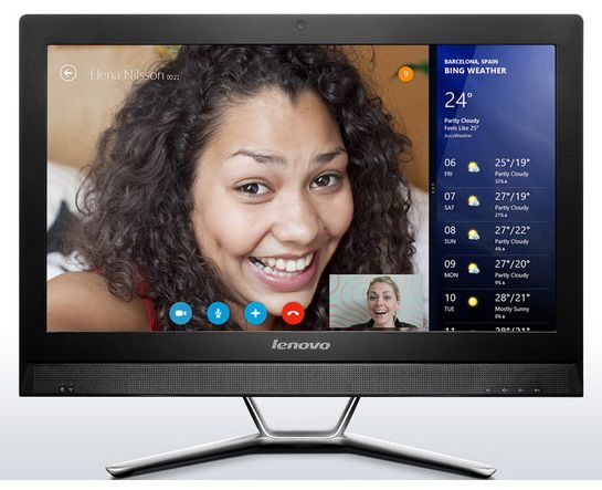 Моноблок LENOVO C470, Intel Celeron 2957U, 4Гб, 500Гб, DVD-RW, Free DOS [57326638]