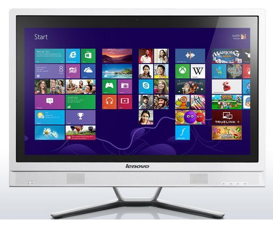 Моноблок LENOVO C470, Intel Pentium Dual-Core 3558U, 4Гб, 1Тб, nVIDIA GeForce 820 - 2048 Мб, DVD-RW, Windows 8.1 [57328411]