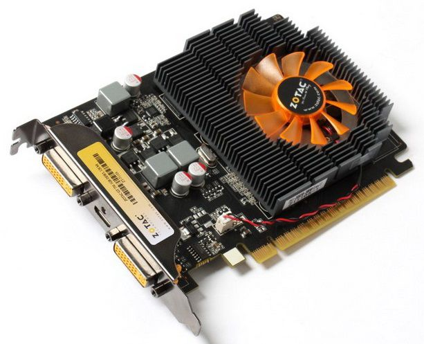 Видеокарта ZOTAC GeForce GT 730,  ZT-71104-10L,  1Гб, DDR3, Low Profile,  Ret
