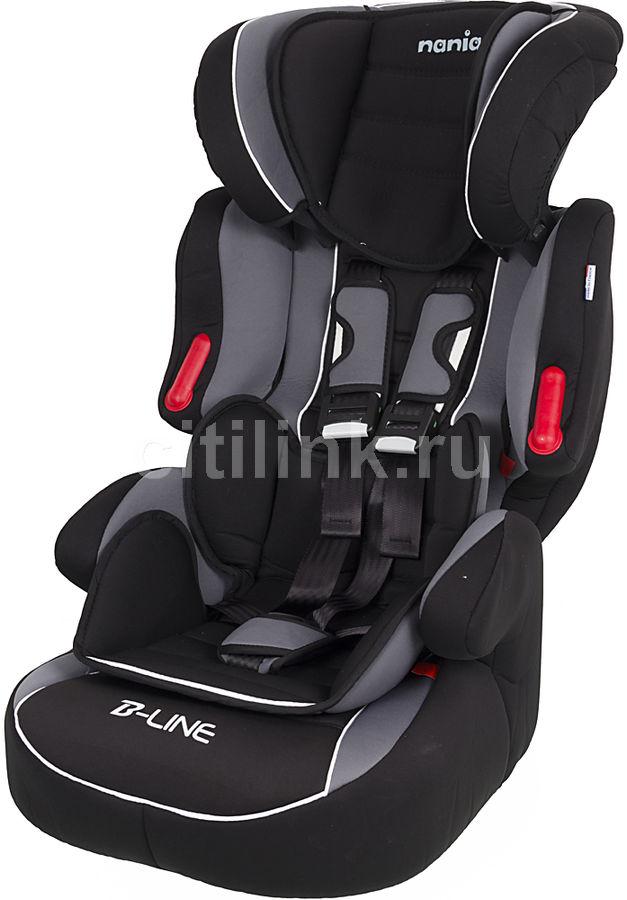 Автокресло детское NANIA Beline SP LX (agora black), 1/2/3, черный/серый [583008]
