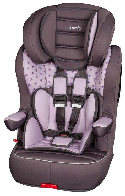 Автокресло детское NANIA Imax SP LX Isofix (purple v star), 1/2/3, фиолетовый [963114]