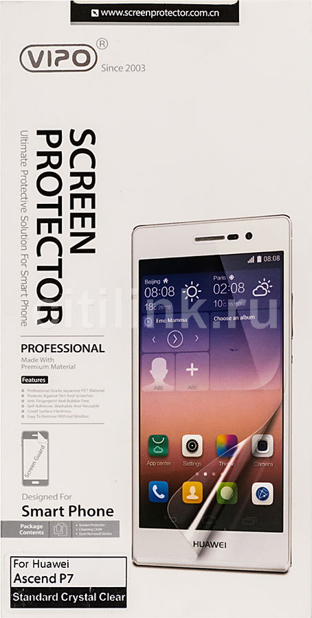 Защитная пленка VIPO для Huawei Ascend P7,  прозрачная, 1 шт