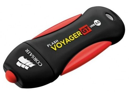 Флешка USB CORSAIR Voyager GT 32Гб, USB3.0, черный и красный [cmfvygt3b-32gb]