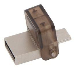 Флешка USB KINGSTON DataTraveler microDuo 32Гб, USB3.0, черный [dtduo3/32gb]