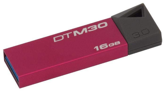 Флешка USB KINGSTON DataTraveler Mini 16Гб, USB3.0, розовый [dtm30r/16gb]