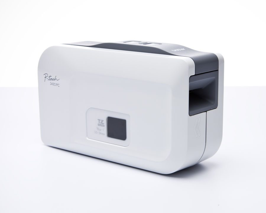Принтер Brother P-touch PT-2430PC стационарный белый/серый [pt2430pcr1]