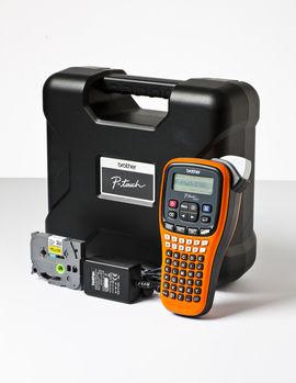 Принтер Brother P-touch PT-E100VP переносной оранжевый/черный [pte100vpr1]