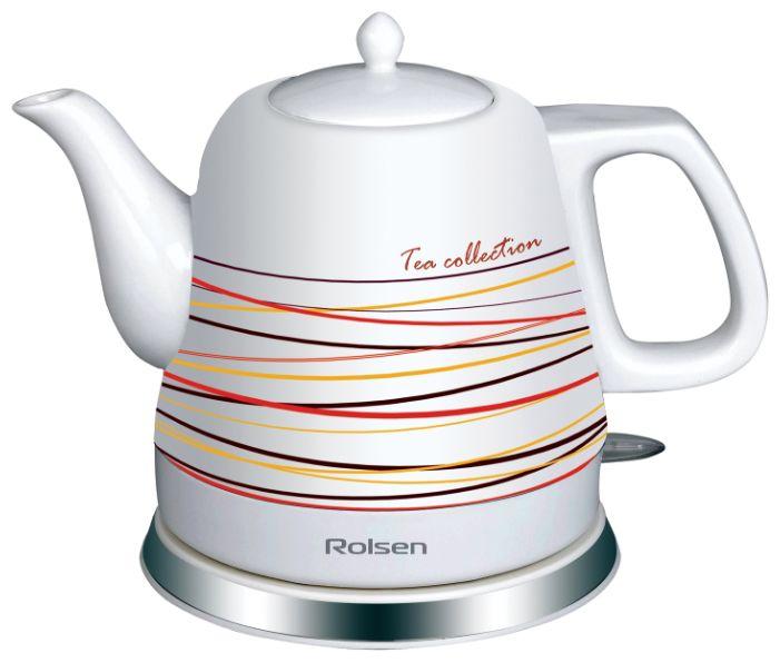 Чайник электрический ROLSEN RK-1211C, 1200Вт, белый