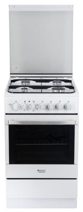 Газовая плита HOTPOINT-ARISTON H5GSH2AF (W) RU,  электрическая духовка,  белый