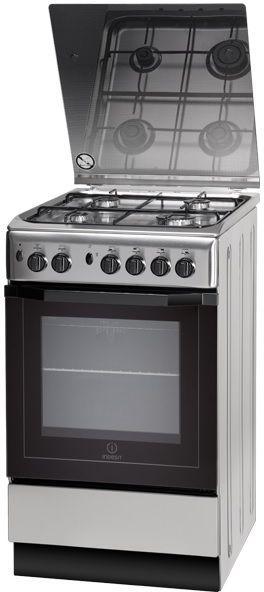 Газовая плита INDESIT I5GG10G(X)/RU,  газовая духовка,  серебристый