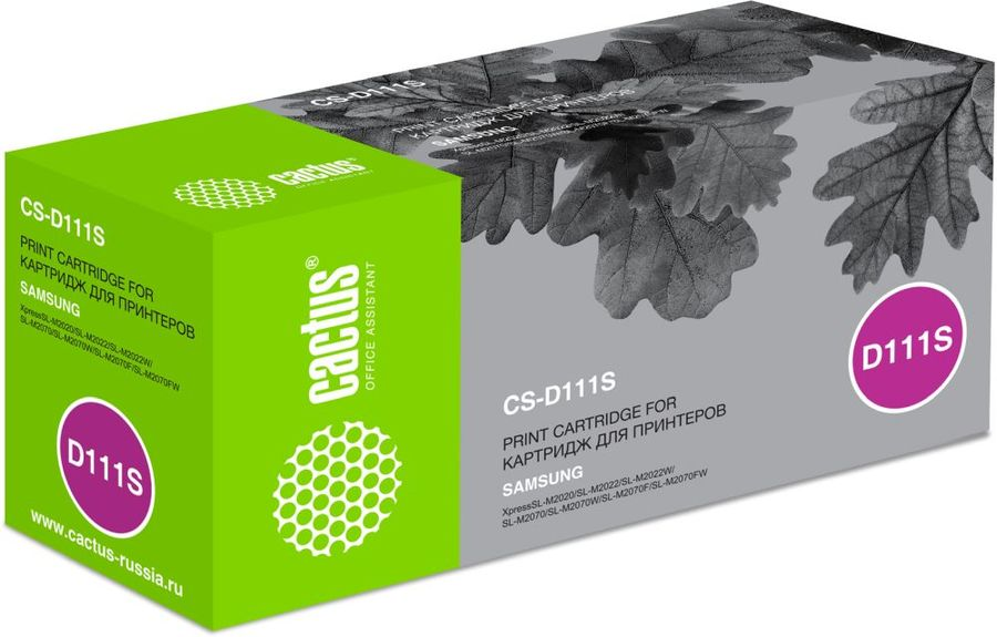 Картридж CACTUS CS-D111S черный 1pcs compatible toner cartridge mlt d111s mlt d111s 111 for samsung m2022 m2022w m2020 m2021 m2020w m2021w m2070 m2071fh printer