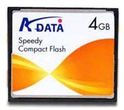 Карта памяти CF A-DATA Speedy 4 ГБ, 1 шт.