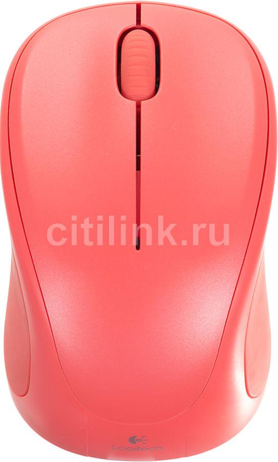 Мышь LOGITECH M317 оптическая беспроводная USB, красный [910-004185]