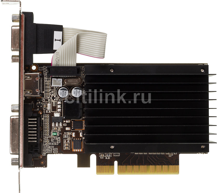 Видеокарта PALIT GeForce GT 720,  NEAT7200HD46-2080H,  2Гб, DDR3, Low Profile,  Ret