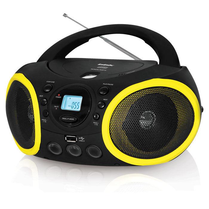 Аудиомагнитола BBK BX150U,  черный и желтый