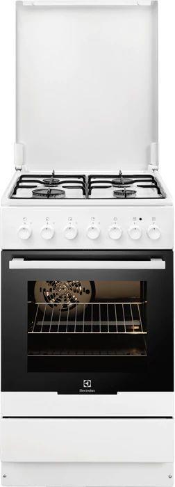 Газовая плита ELECTROLUX EKK951301W,  электрическая духовка,  белый