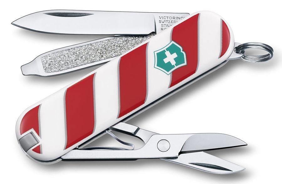 """Нож перочинный Victorinox Classic 0.6223 """"Леденец"""" (0.6223.L1405) белый/коричневый 7 функций пластик"""