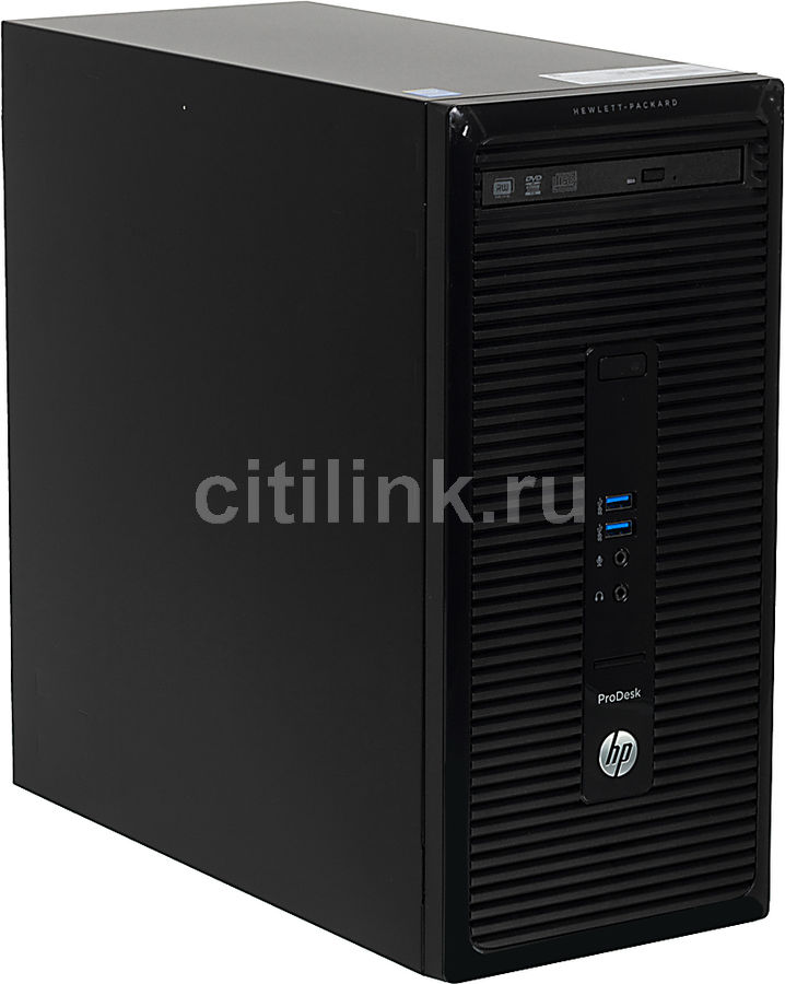 Компьютер  HP ProDesk 400 G2,  Intel  Pentium  G3240,  DDR3 4Гб, 500Гб,  Intel HD Graphics,  DVD-RW,  Free DOS,  черный [j4b33ea]