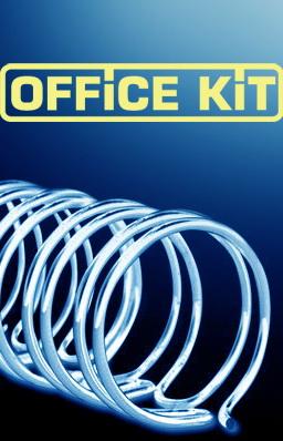 Пружина металлическая OFFICE KIT OKPM14W,  6.4мм,  20 - 30 листов,  A4,  100,  белый