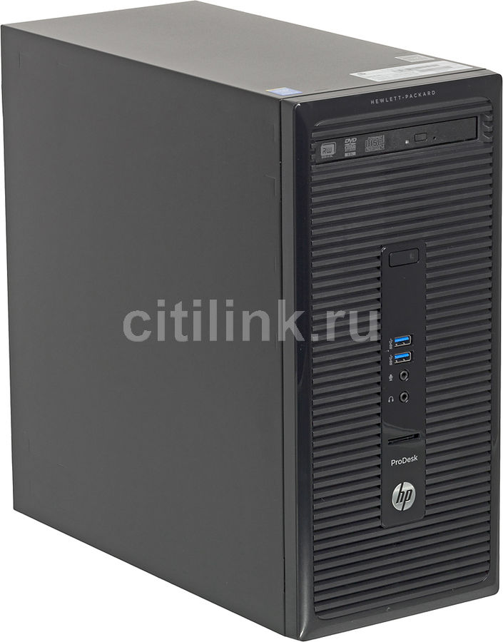 Компьютер  HP ProDesk 400 G2,  Intel  Core i3  4150,  DDR3 4Гб, 1000Гб,  Windows 7 Professional,  черный [j8t71es]