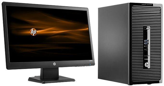 Комплект  HP ProDesk 400 G2,  Intel  Core i3  4150,  DDR3 4Гб, 500Гб,  Intel HD Graphics 4400,  DVD-RW,  Free DOS,  черный [j4b28ea]