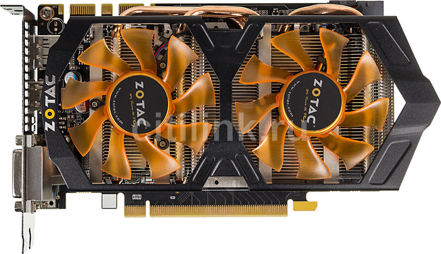 Видеокарта ZOTAC GeForce GTX 660,  ZT-60901-10S,  2Гб, GDDR5, Ret