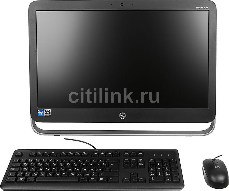 Моноблок HP ProOne 400 G1, Intel Celeron G1840T, 4Гб, 500Гб, Intel HD Graphics, DVD-RW, Windows 8.1, черный и серебристый [j8s77ea]
