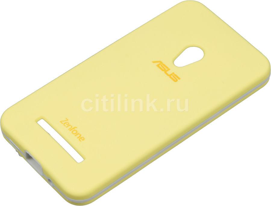 Чехол (клип-кейс) ASUS Rugged Case, для Asus ZenFone 5 (A500CG/A501CG) ZenFone 5 LTE (A500KL), желтый [90xb024a-bsl030]
