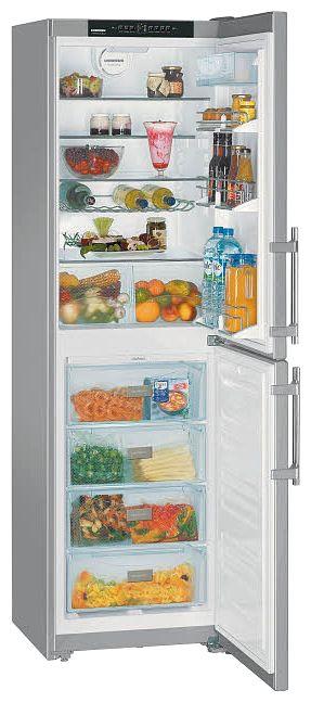 Холодильник LIEBHERR CNPesf 3913,  двухкамерный,  нержавеющая сталь