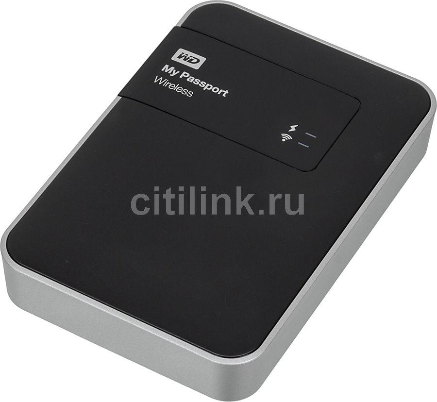 Внешний жесткий диск WD My Passport Wireless WDBK8Z0010BBK-EESN, 1Тб, черный