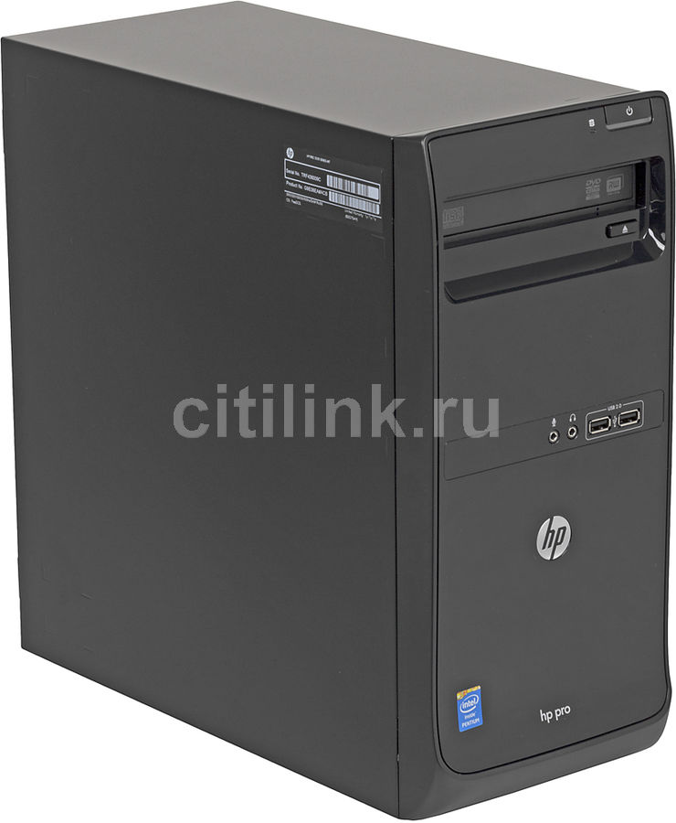 Компьютер  HP Pro 3500 G2,  Intel  Pentium  G2030,  DDR3 2Гб, 500Гб,  Intel HD Graphics,  DVD-RW,  Free DOS,  черный [g9e06ea]