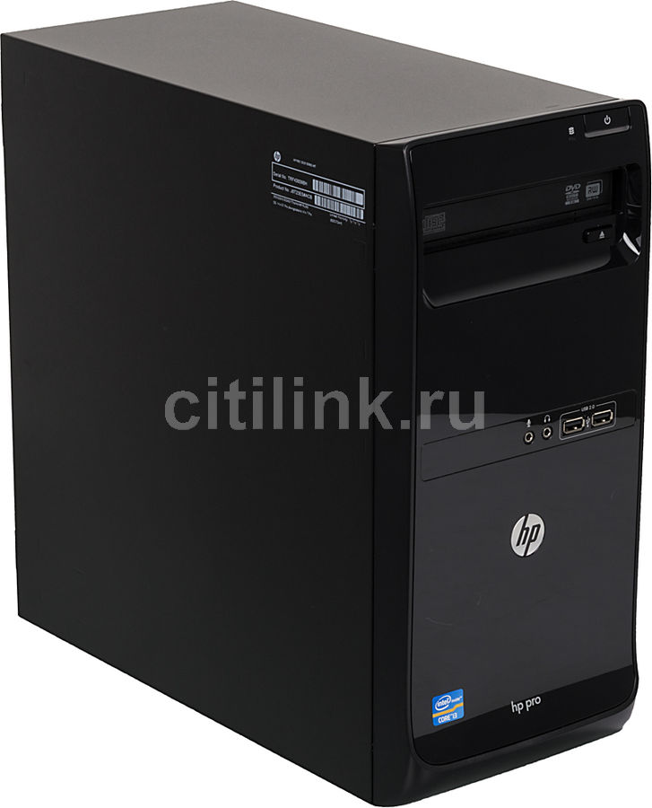 Компьютер  HP Pro 3500 G2 MT,  Intel  Core i3  3240,  DDR3 4Гб, 1000Гб,  Intel HD Graphics 2500,  DVD-RW,  Windows 7 Professional,  черный [j8t23es]