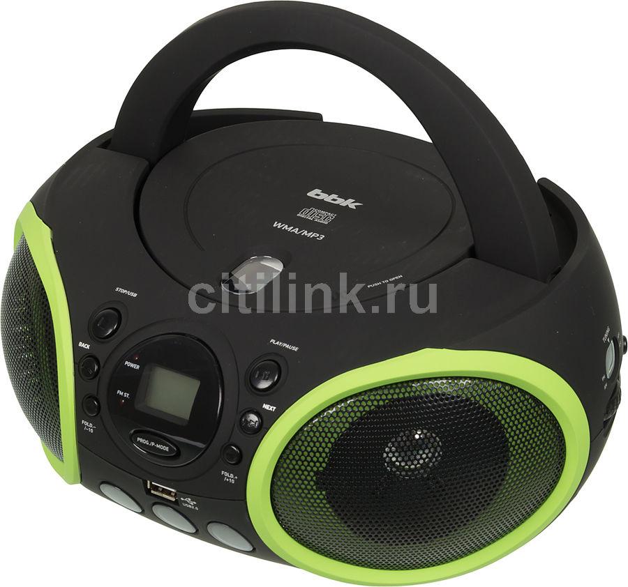 Аудиомагнитола BBK BX150U,  черный и зеленый