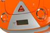 Аудиомагнитола BBK BX325U,  оранжевый и серебристый вид 8