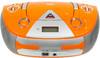 Аудиомагнитола BBK BX325U,  оранжевый и серебристый вид 3