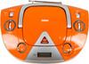 Аудиомагнитола BBK BX325U,  оранжевый и серебристый вид 4