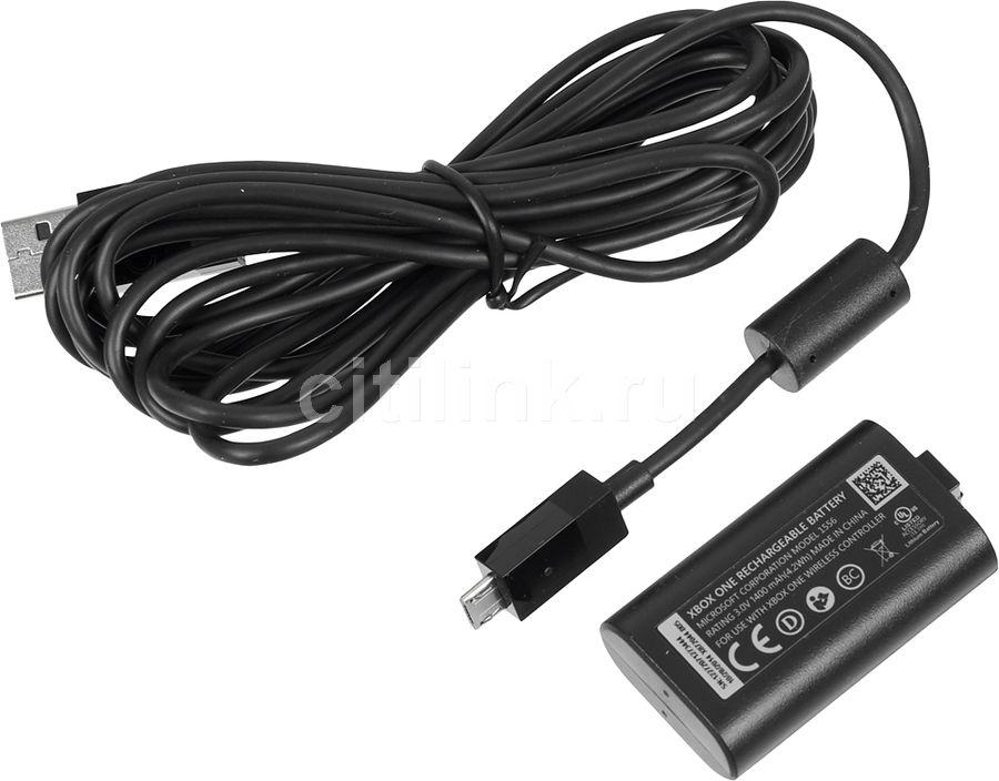 Зарядный комплект MICROSOFT Play and Charge Kit, для  Xbox One, черный [s3v-00008]