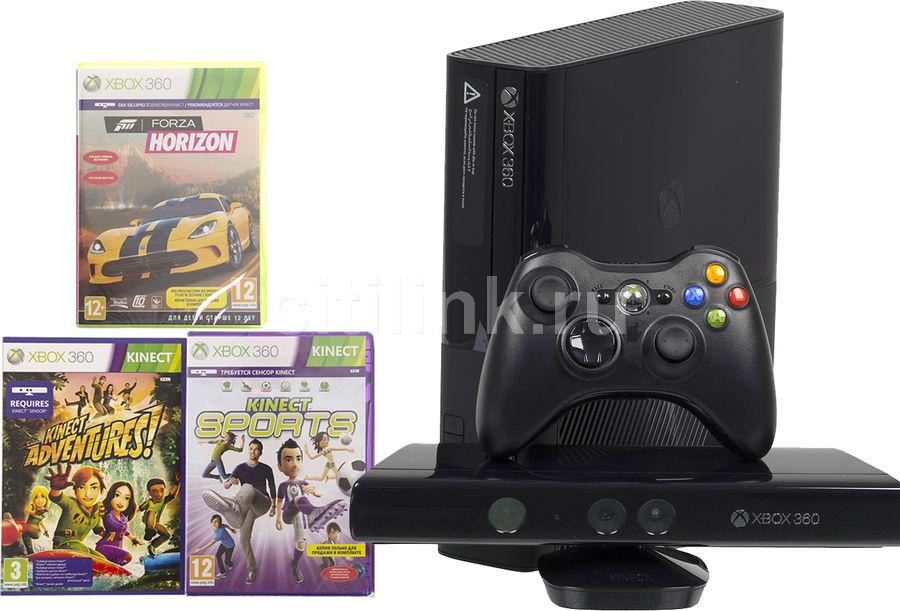 Игровая консоль MICROSOFT Xbox 360 E N7V-00088, черный