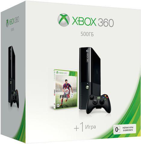 Игровая консоль MICROSOFT Xbox 360 N3V-00017, черный
