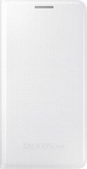 Чехол (флип-кейс) SAMSUNG EF-FG850BWE, для Samsung Galaxy Alpha, белый [ef-fg850bwegru]