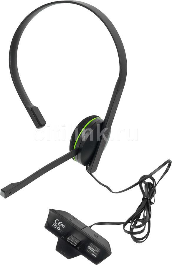 Проводная гарнитура MICROSOFT Chat Headset, для  Xbox One, черный [s5v-00012]
