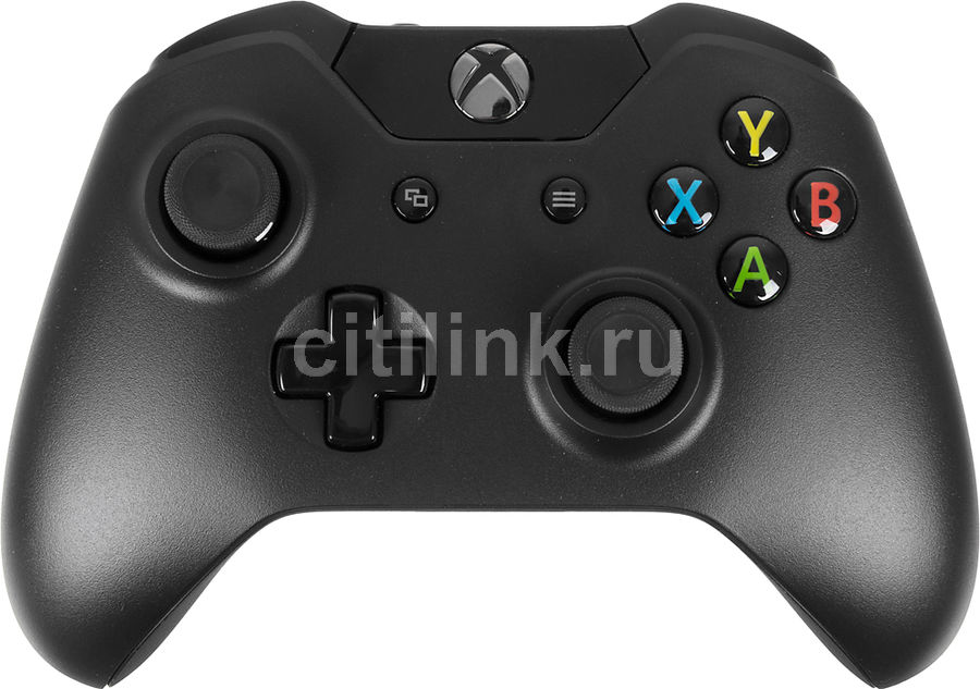 Беспроводной контроллер MICROSOFT Wireless Controller (+ зарядное устройство), для  Xbox One, черный [w2v-00011]