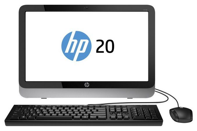 Моноблок HP Pavilion 20-2101nr, Intel Pentium J2900, 4Гб, 500Гб, Intel HD Graphics, DVD-RW, Windows 8.1, черный и серебристый [j2g29ea]