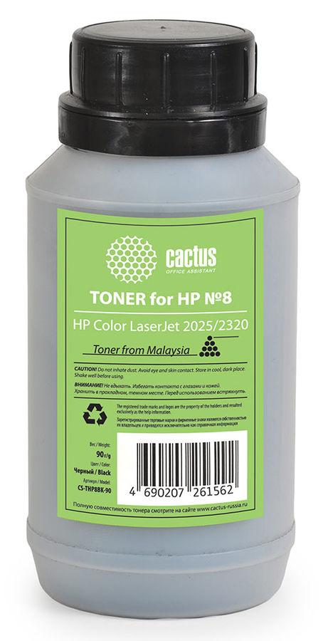 Тонер CACTUS CS-THP8BK-90,  для HP CLJ 2025/2320,  черный, 90грамм, флакон