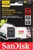 Карта памяти microSDXC UHS-I SANDISK Extreme 64 ГБ, Class 10, SDSDQXN-064G-G46A,  1 шт., переходник SD вид 1