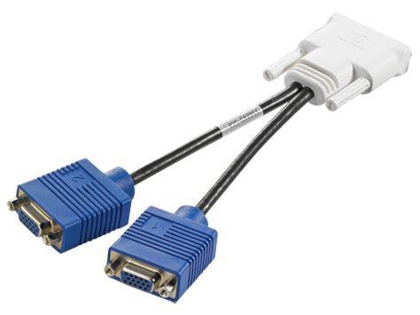 Кабель DMS-59 HP DMS-59(m) -  VGA HD15 (f)2 x ,  черный [gs567aa]