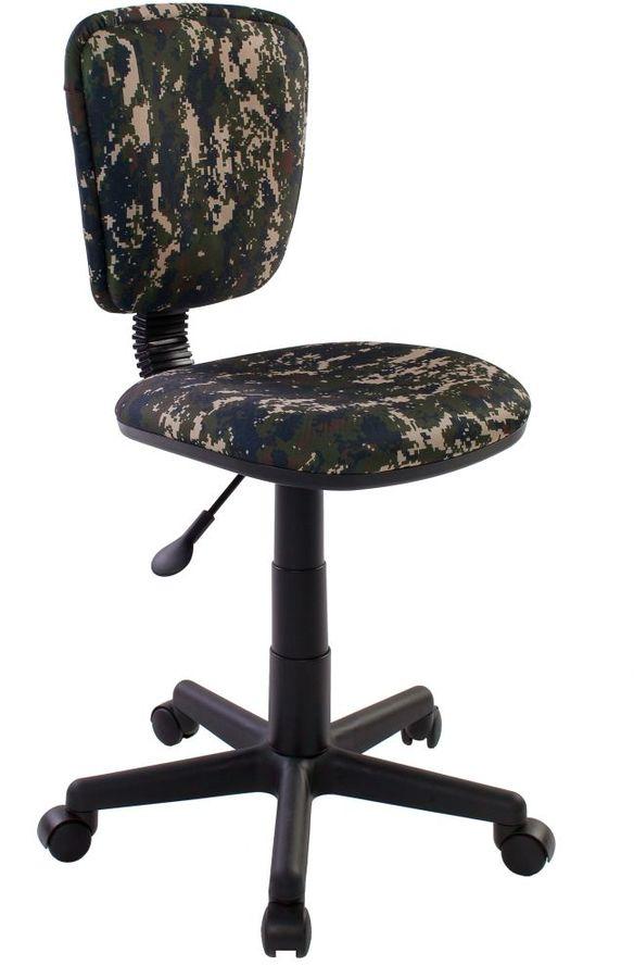 Кресло БЮРОКРАТ CH-204NX, на колесиках, ткань, зеленый/принт [ch-204nx/military]