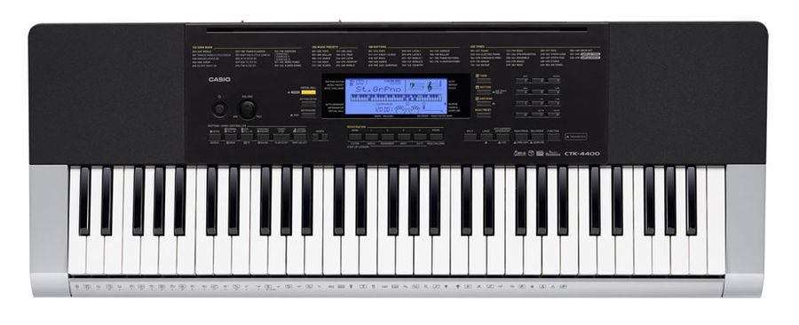 Синтезатор CASIO CTK-4400, 61, невзвешенная, полноразмерные, 48, черный