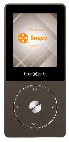 MP3 плеер TEXET Т-55 flash 8Гб коричневый